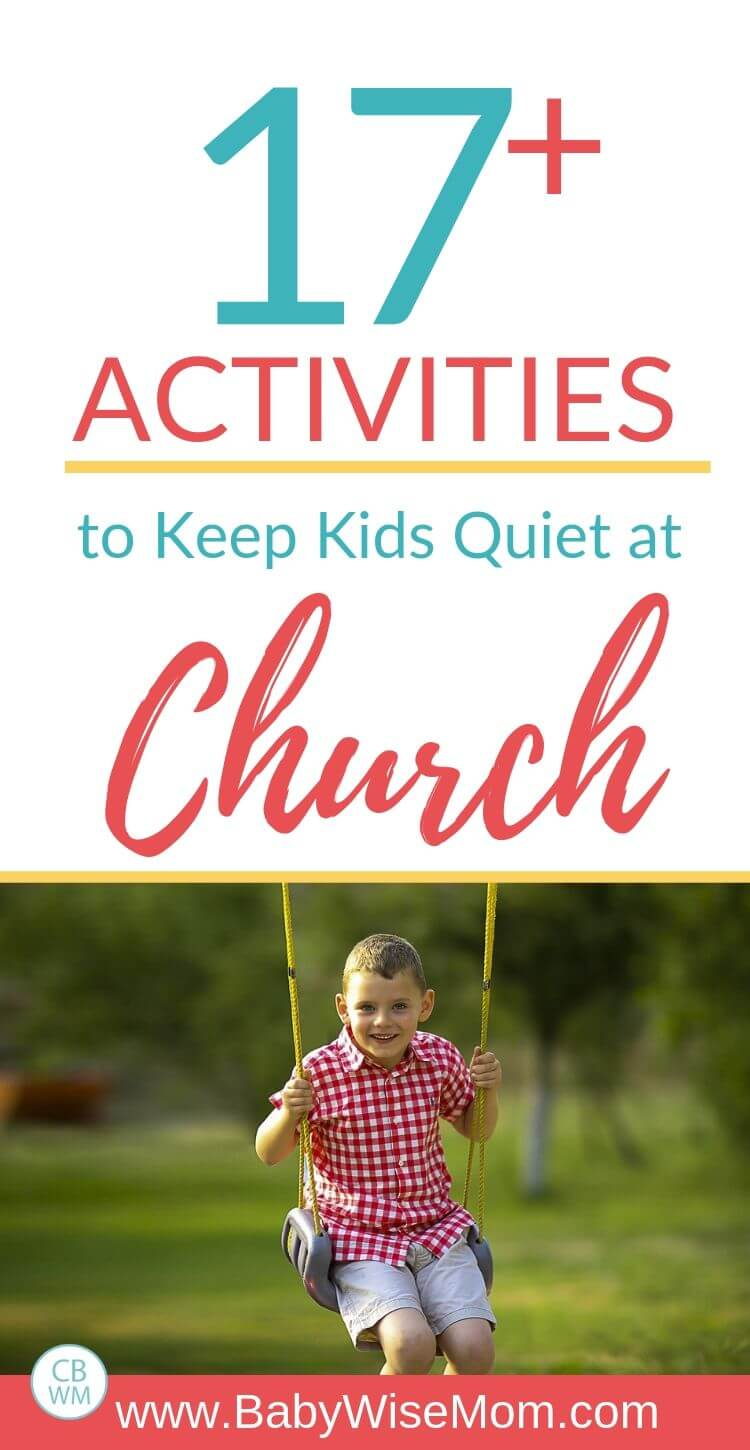 17 plus activities to keep kids quiet at church Pinnable Image