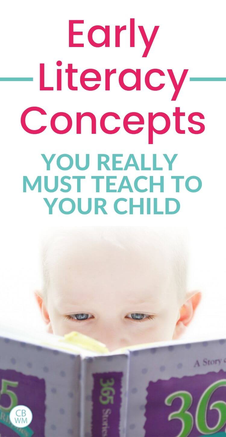 Early literacy concepts you must teach to your child pinnable image