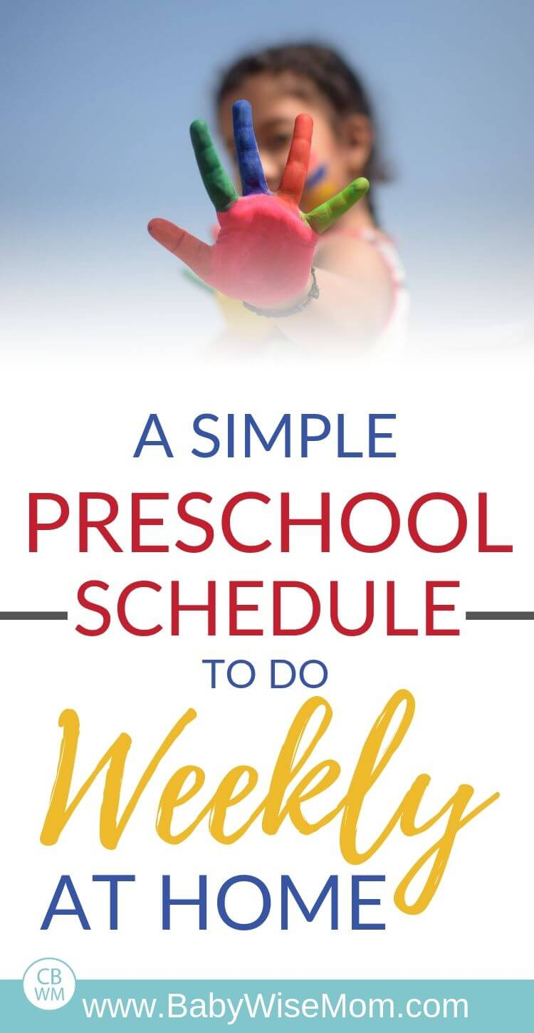 preschool from home weekly schedule Pinnable Image