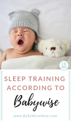 Sleep training according to Babywise. What it means to sleep train with the Baby Wise method.