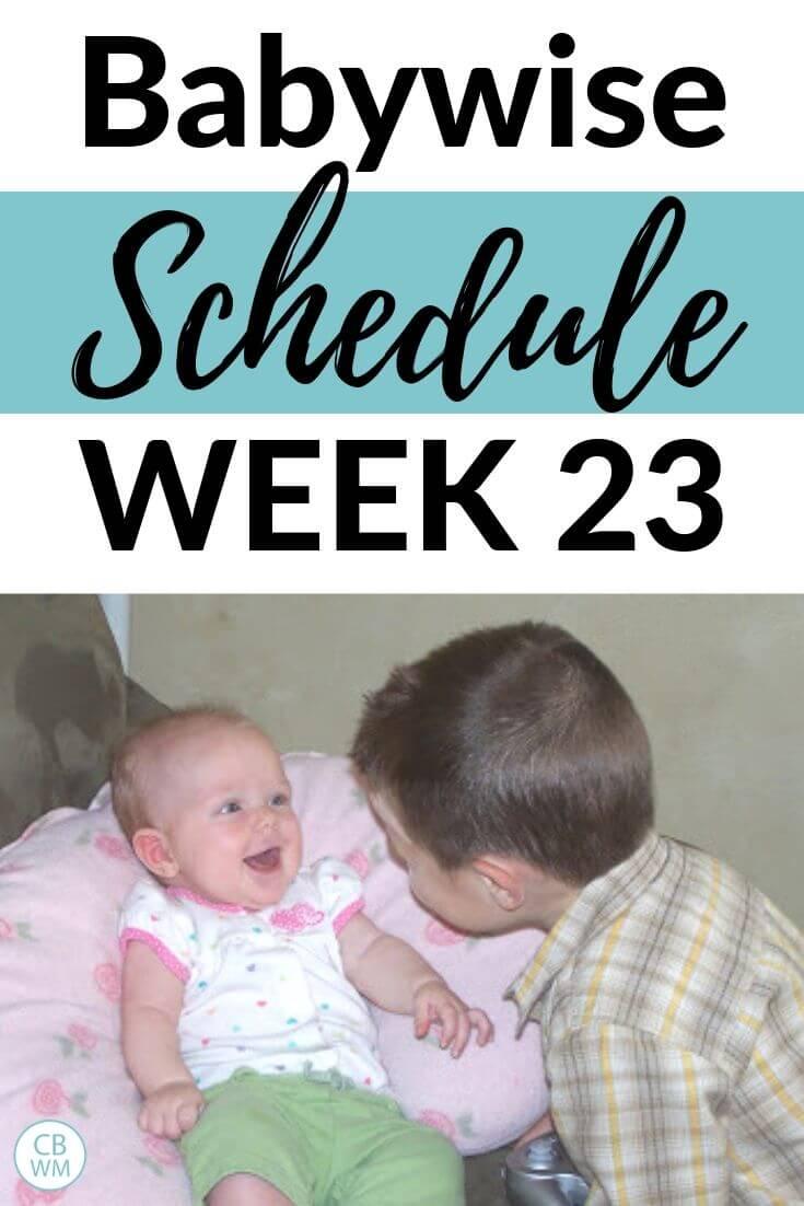 23 week old Babywise Schedule Pinnable Image