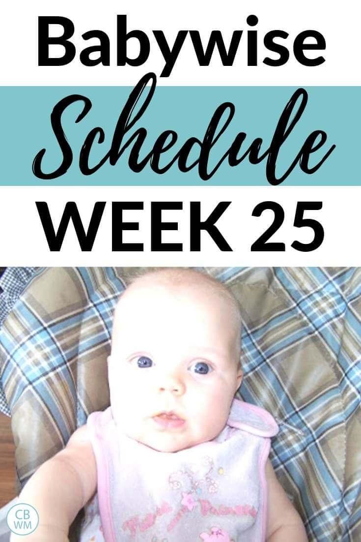 Babywise Schedule week 25 Pinnable Image