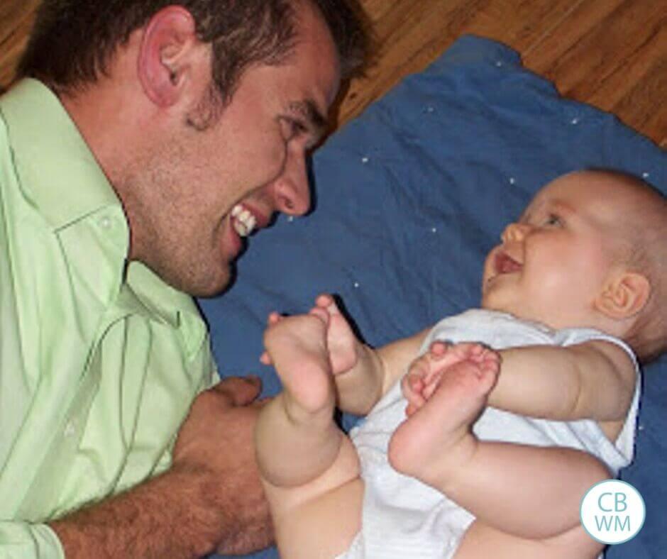 26 week old baby McKenna and her dad