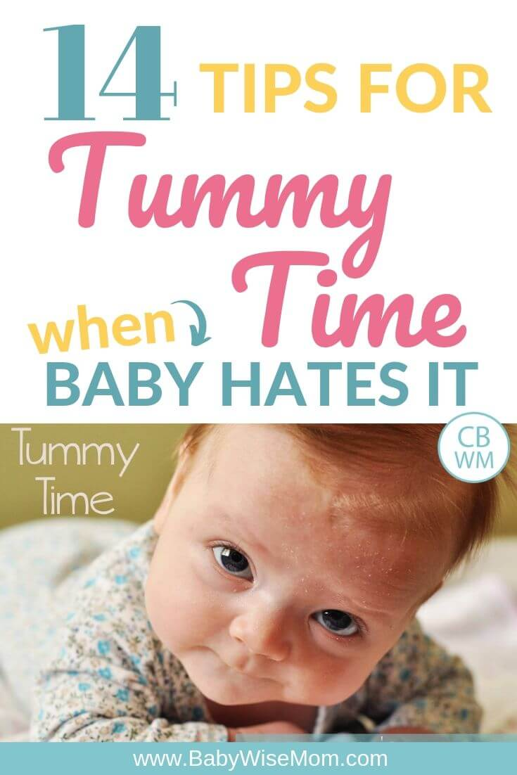 Tummy time pinnable image