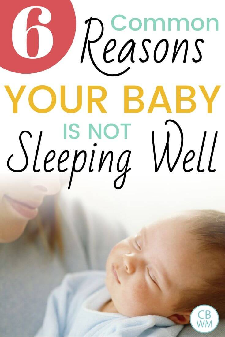 6 reasons your baby is not sleeping well pinnable image