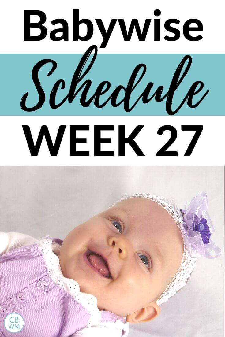 27 week Babywise Schedule Pinnable Image