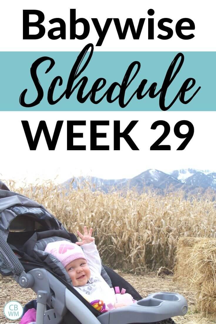Babywise schedule week 29 Pinnable image