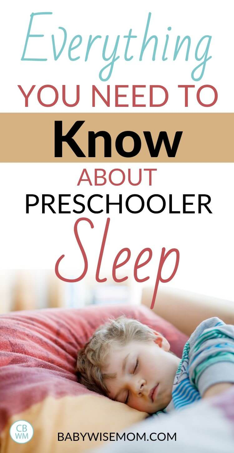Everything you need to know about preschooler sleep Pinnable Image