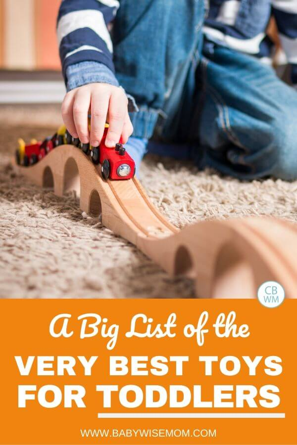 Best toys for toddlers pinnable image