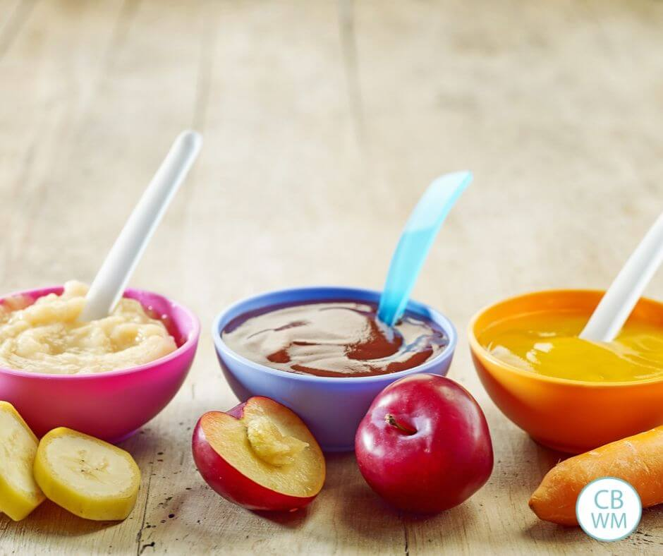 Homemade baby food image