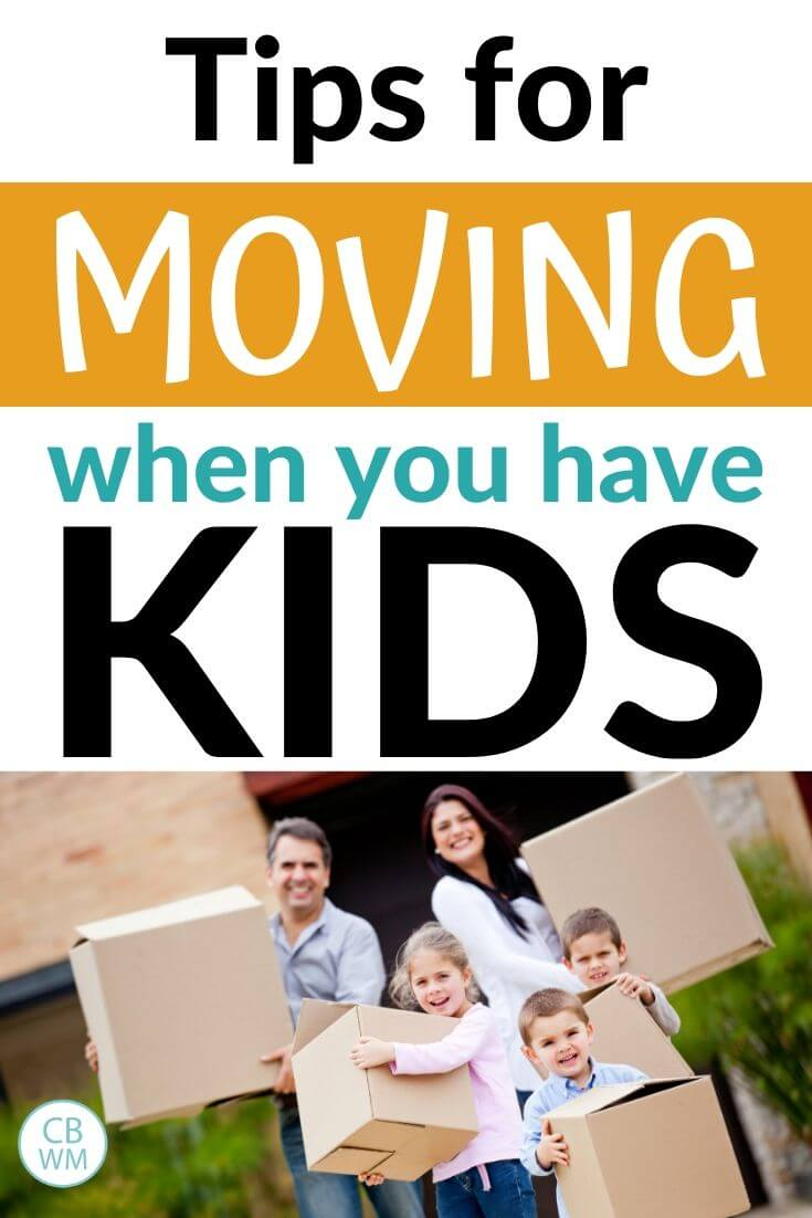Moving with kids Pinnable Image