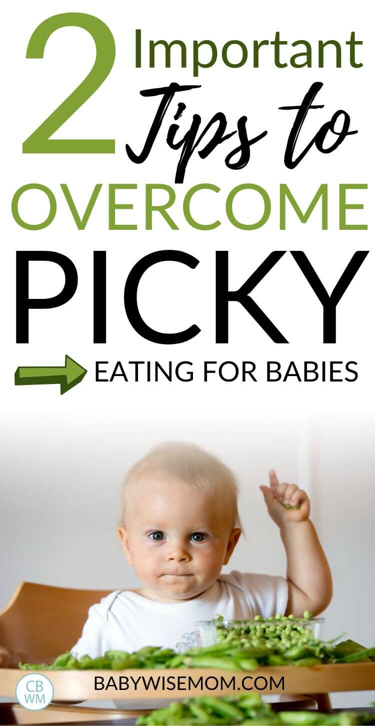 Picky baby eater pinnable image