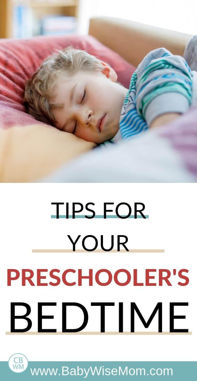 Tips for your preschooler's bedtime Pinnable Image