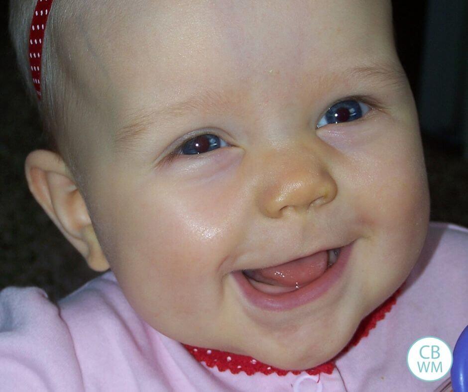 34 week old McKenna smiling