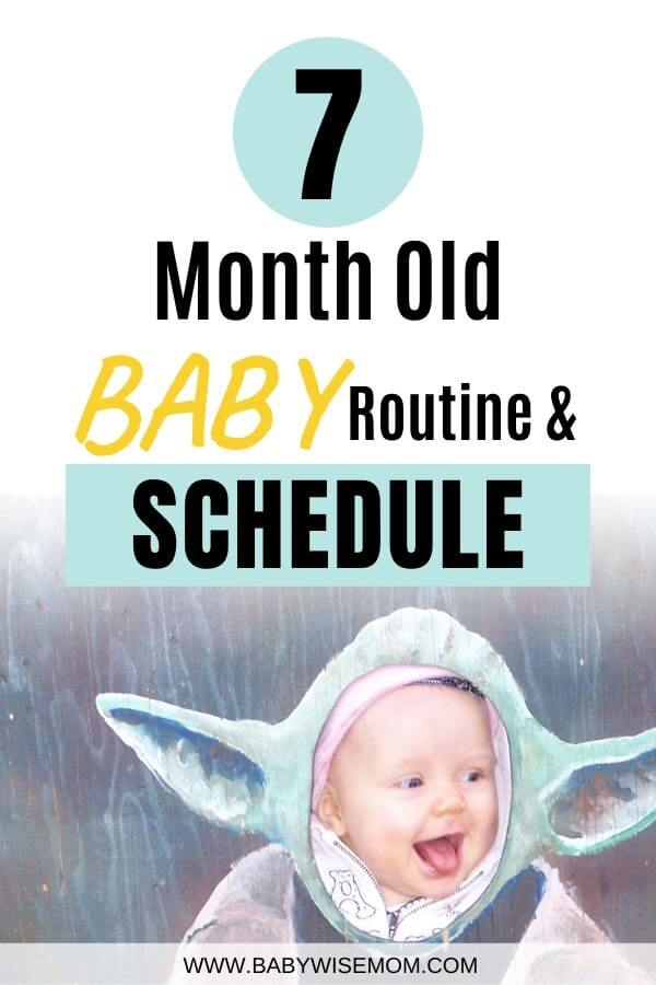 7 month old baby schedule Pinnable Image