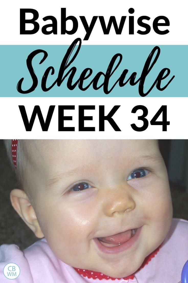 Babywise Schedule Week 34 Pinnable Image