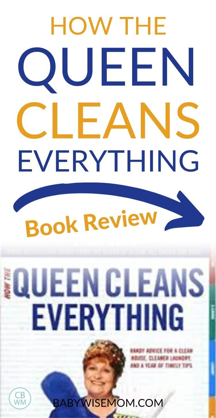 How the queen cleans everything Book Review Pinnable Image