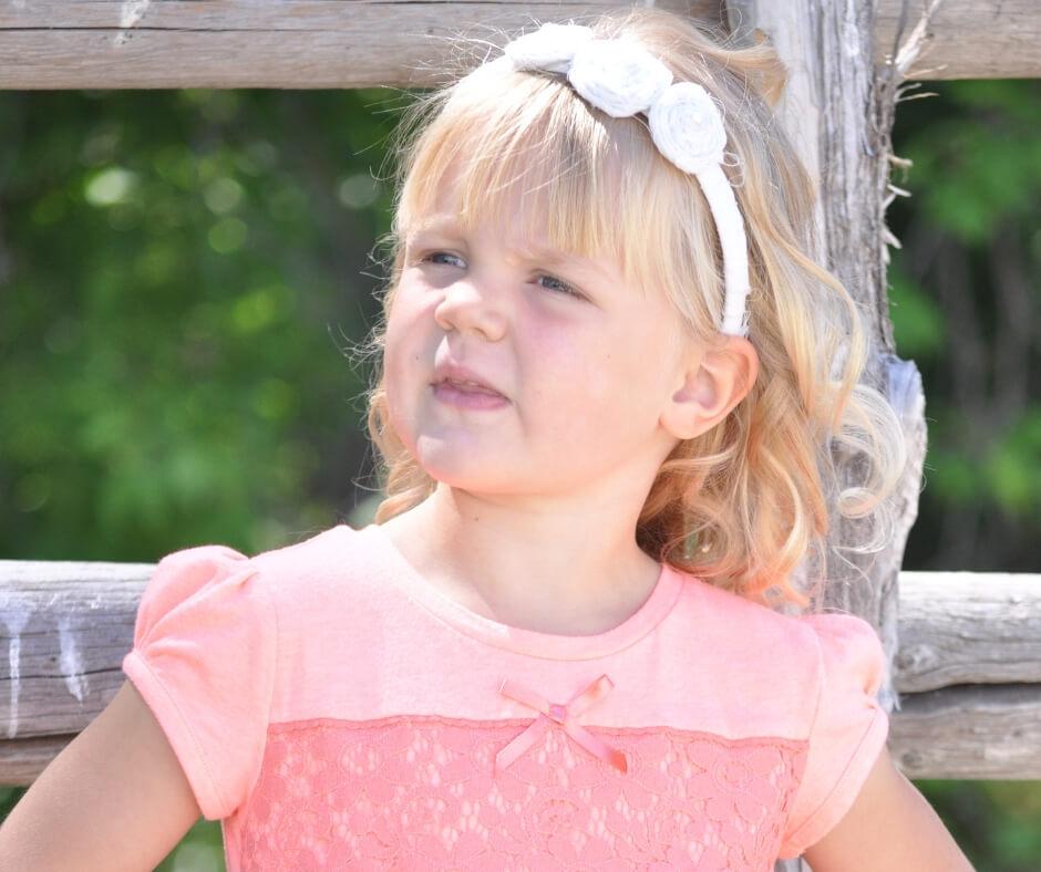 McKenna at age 4