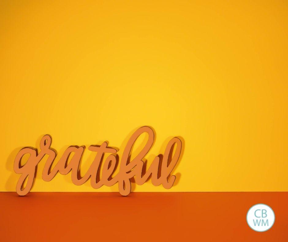 grateful word in cursive