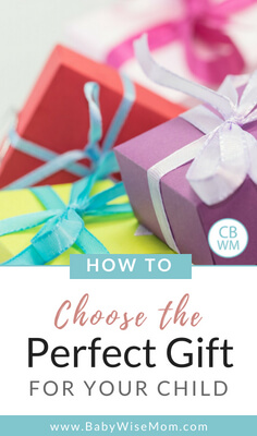 How To Choose the Perfect Gift For Your Child. Tips to narrow down and pick gifts your child will love and use for years to come.