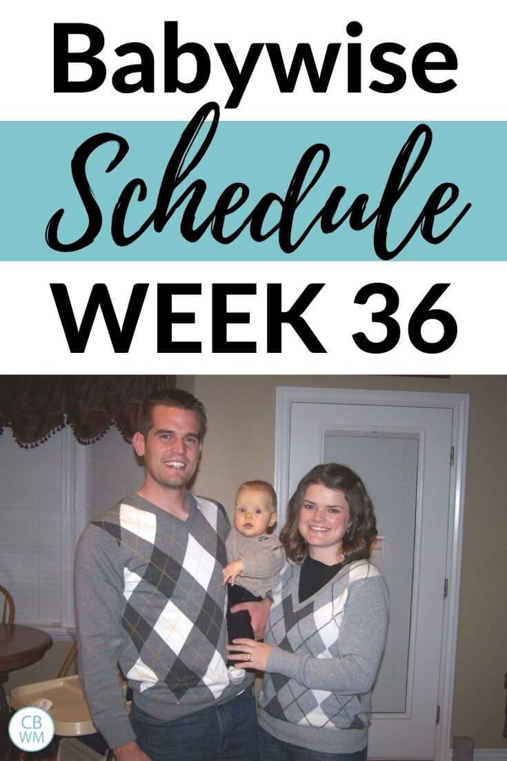 Babywise Schedule 36 Weeks Old Pinnable image