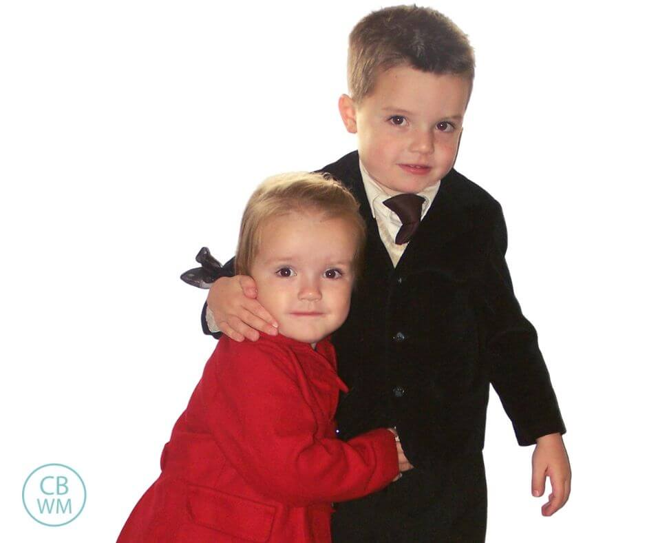 4.5 year old Brayden with Kaitlyn