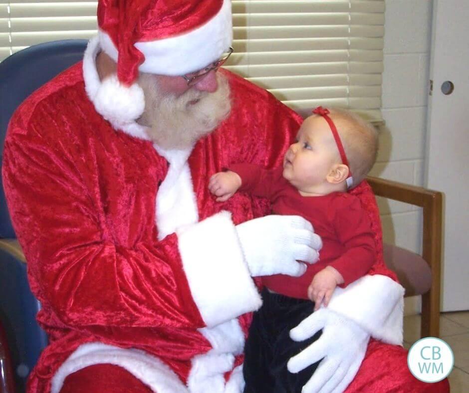 37 week old McKenna and Santa
