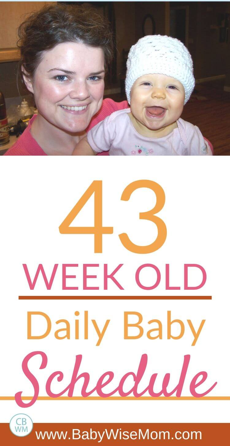 43 week old baby schedule pinnable image