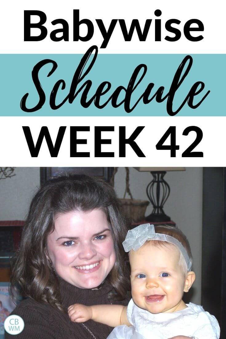 42 week old babywise schedule pinnable image