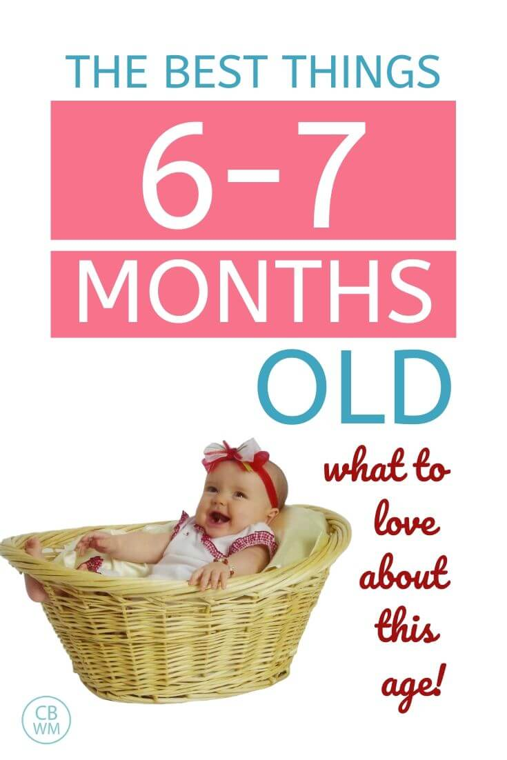 The best things about 6-7 month olds pinnable image