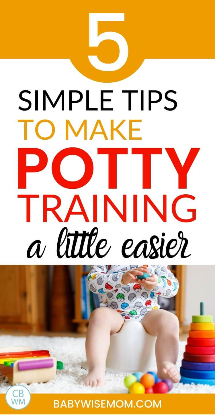 5 simple tips to make potty training easier pinnable image