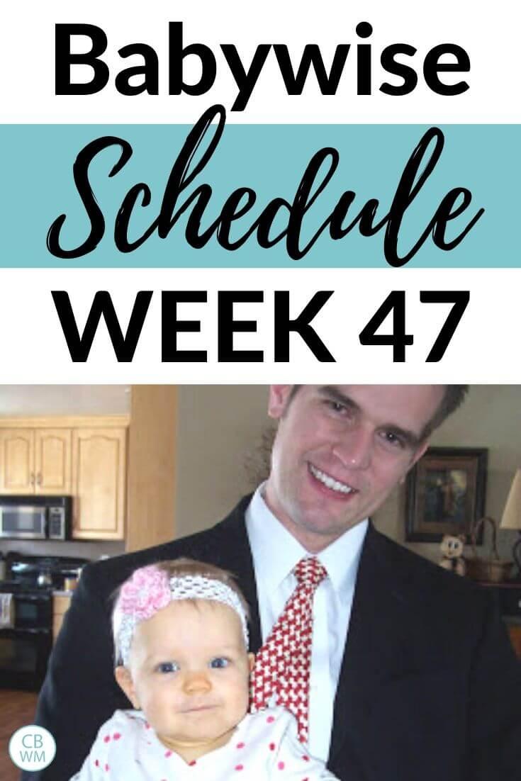 Babywise Schedule Week 47 pinnable image
