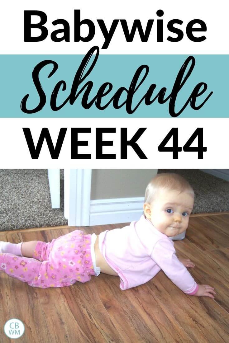 Babywise Schedule week 44 Pinnable Image