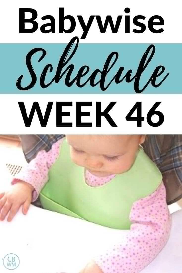 Babywise Schedule week 46 pinnable image