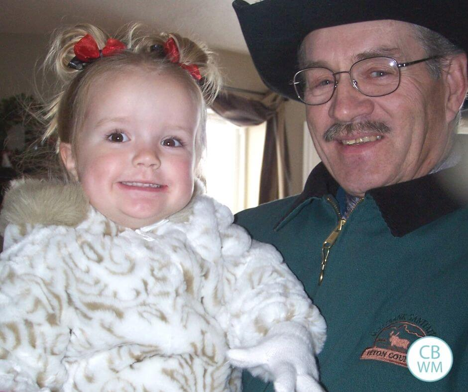 2 year old Kaitlyn and her great-grandpa