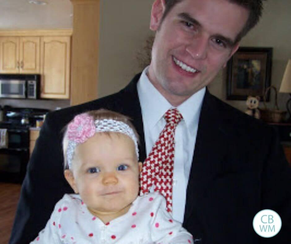 47 week old McKenna with her dad