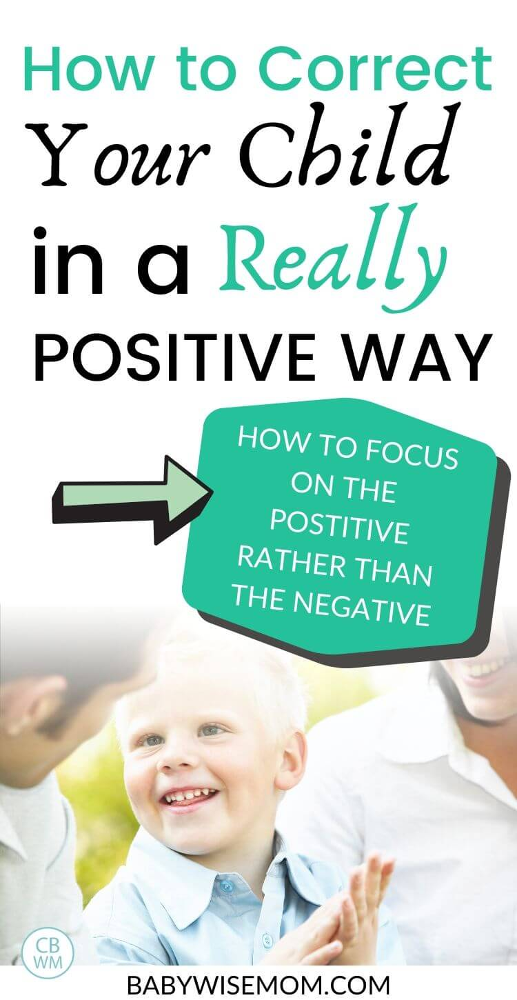 How to correct your child in a positive way pinnable image