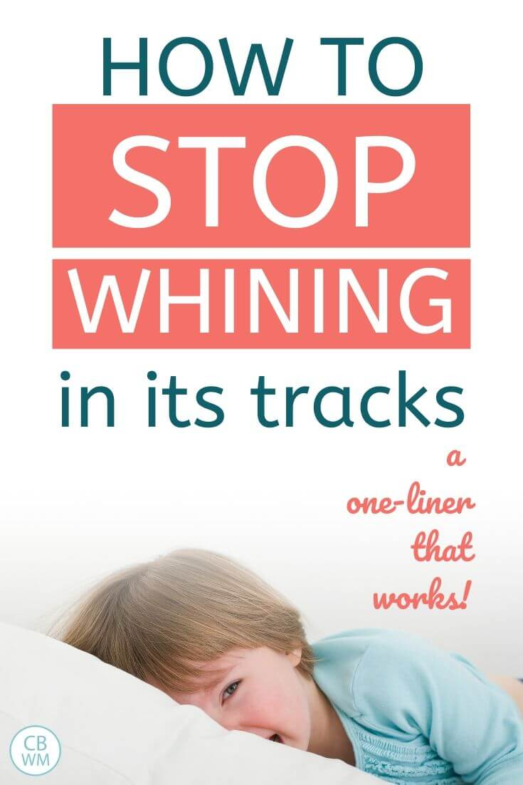 How to stop whining in its tracks pinnable image