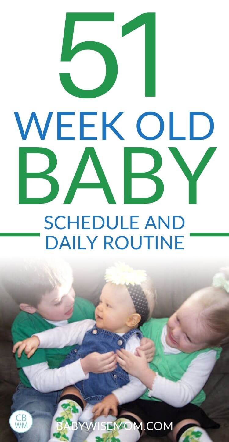 51 week old baby schedule and routine pinnable image