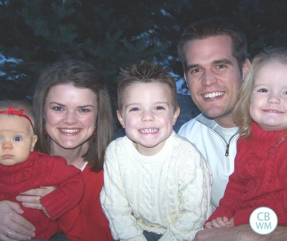 Brayden at 4 years old with his family