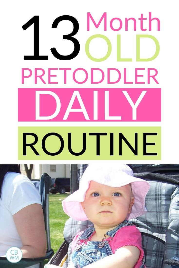 13 month old pretoddler daily routine pinnable image