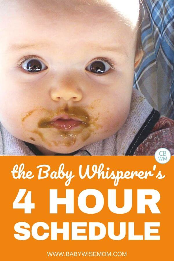 Baby whisperer's 4 hour schedule pinnable image