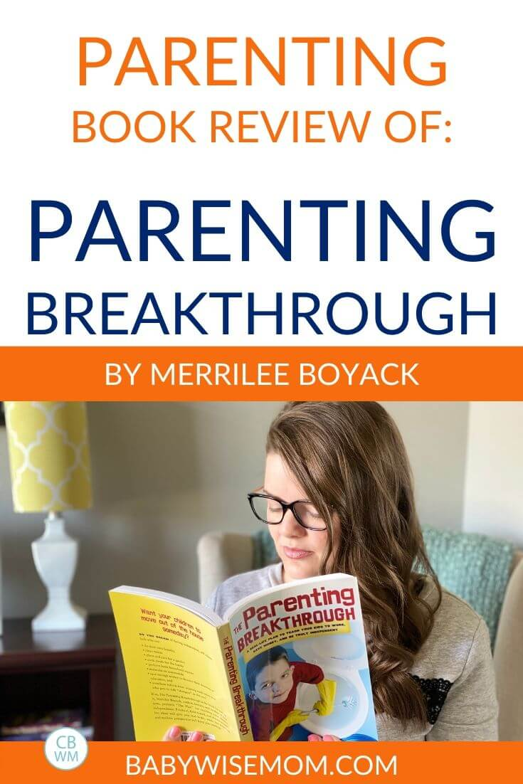 Parenting Breakthrough book review pinnable image