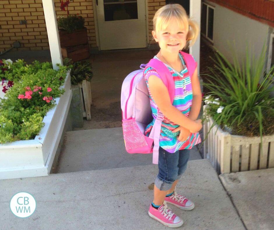 McKenna on her first day of preschool