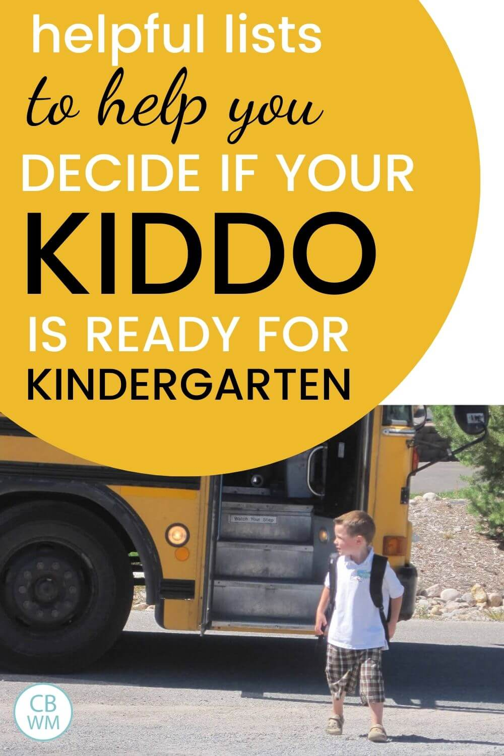 Helpful lists to decide if your little one is read for kindergarten pinnable image