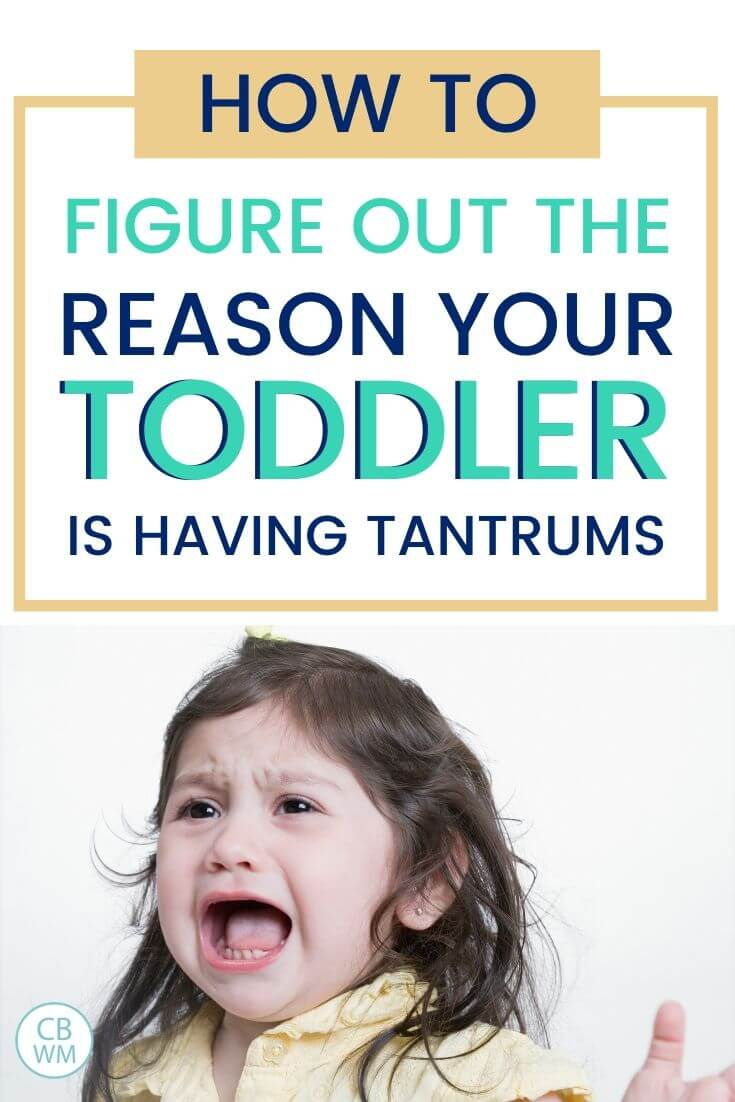 How to figure out the reason your toddler is suddenly having tantrums pinnable image