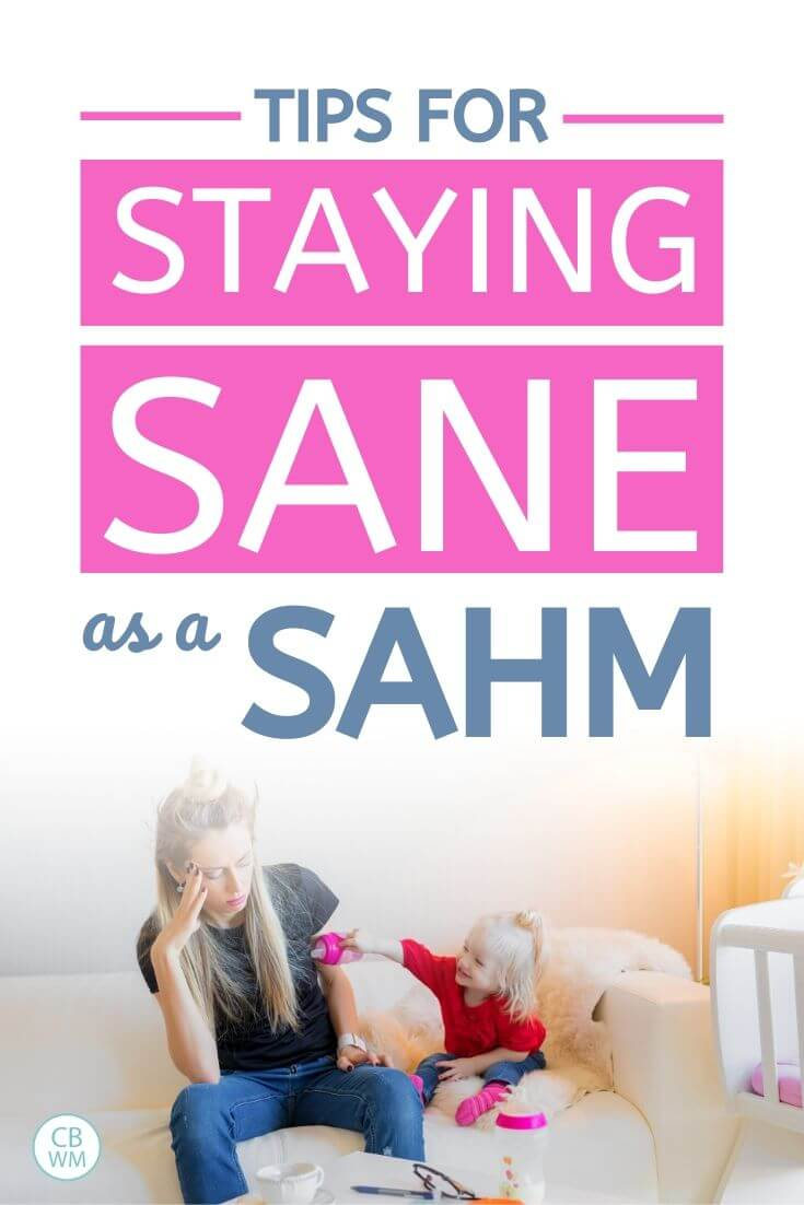 tips for staying sane as a SAHM pinnable image