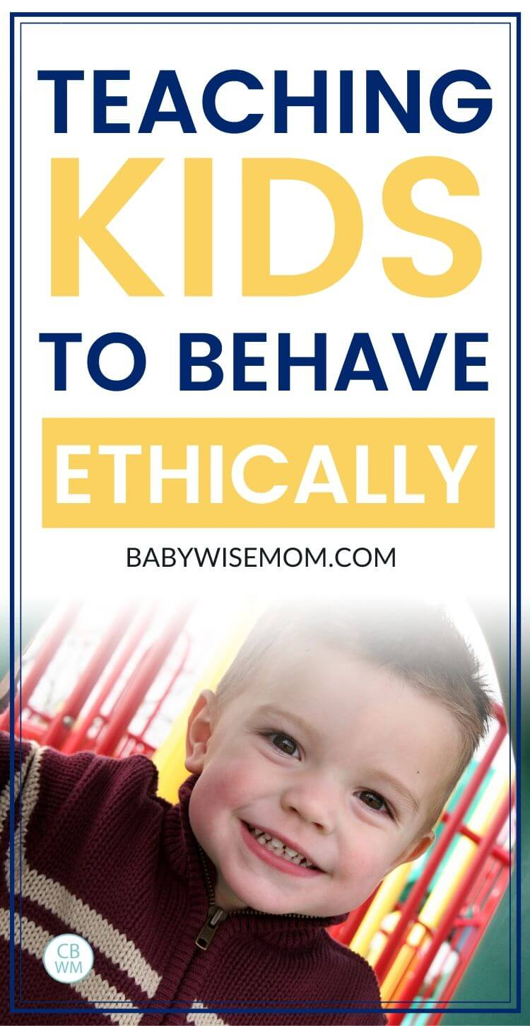 Teaching kids to behave ethically pinnable images
