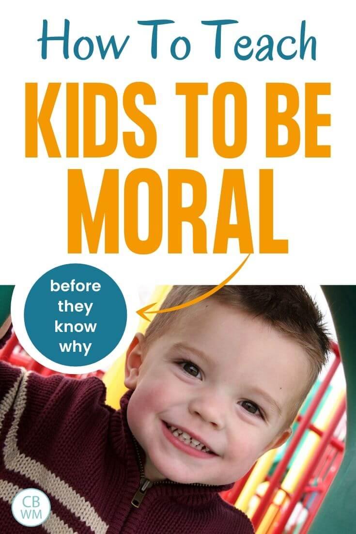 Teaching kids to be moral pinnable image