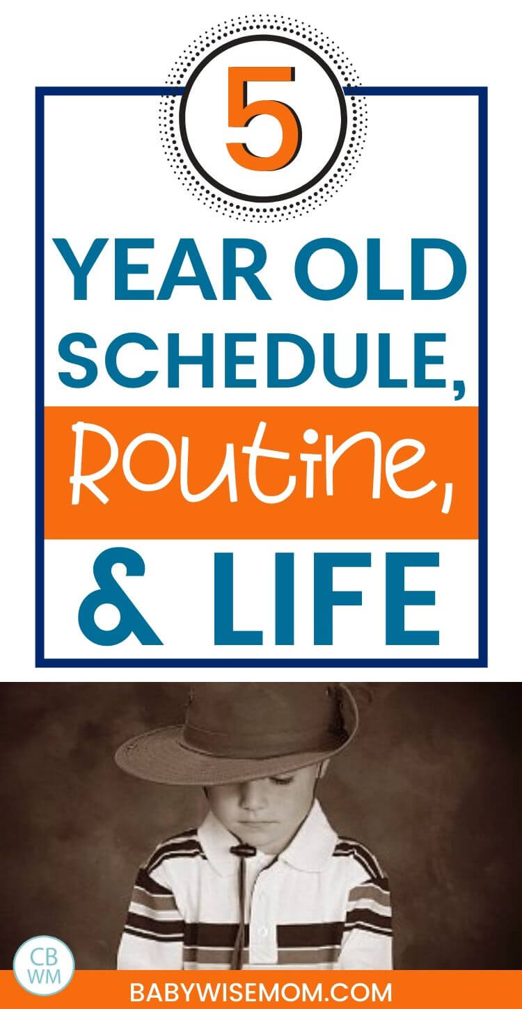 Schedule and routine for 5 year old